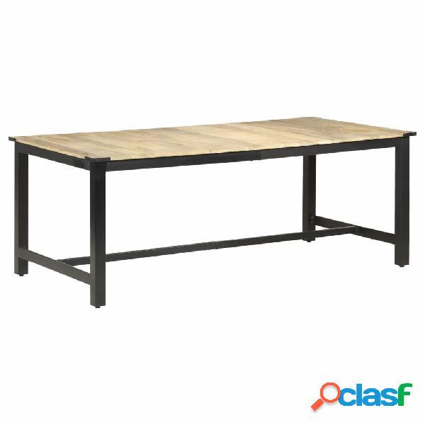 vidaXL Mesa de comedor madera maciza de mango en bruto