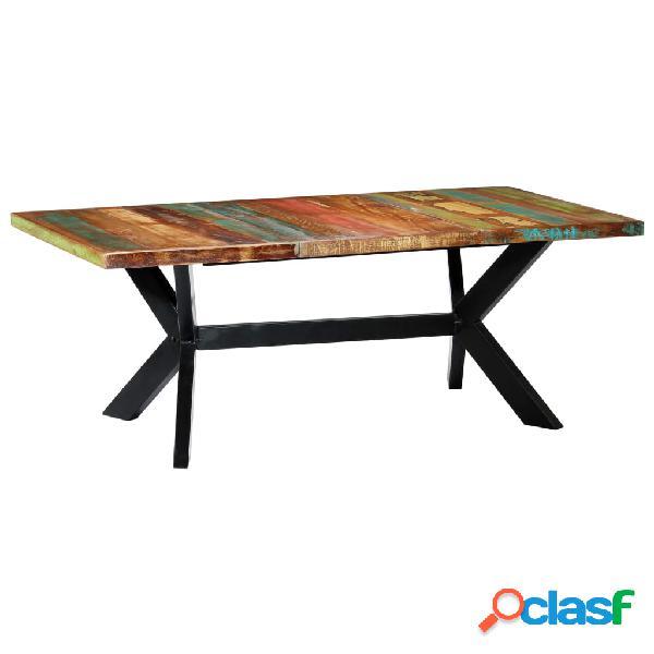 vidaXL Mesa de comedor madera maciza reciclada 200x100x75 cm