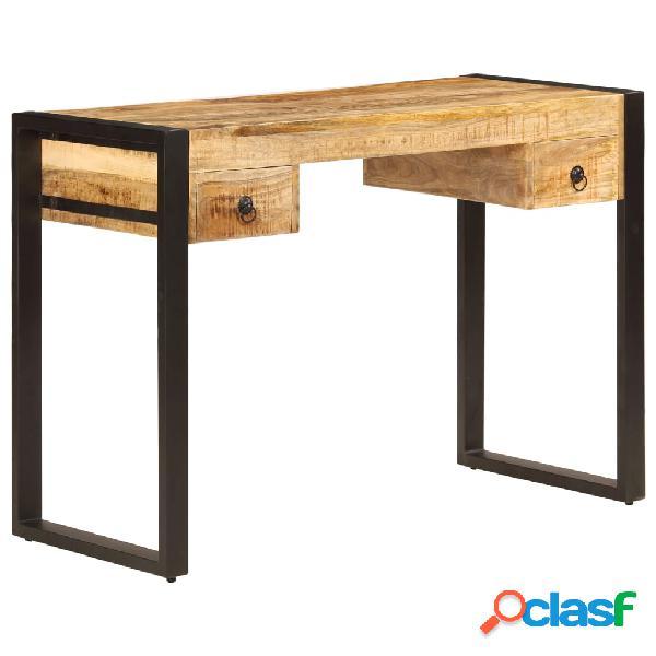 vidaXL Mesa de escritorio 2 cajones 110x50x77 cm madera