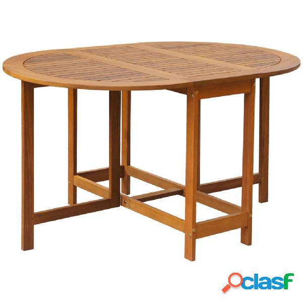 vidaXL Mesa de jardín madera maciza de acacia 130x90x72 cm