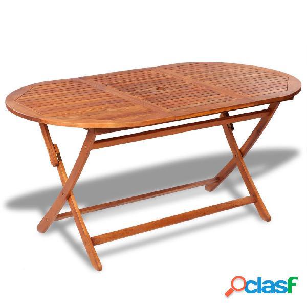 vidaXL Mesa de jardín madera maciza de acacia 160x85x75 cm