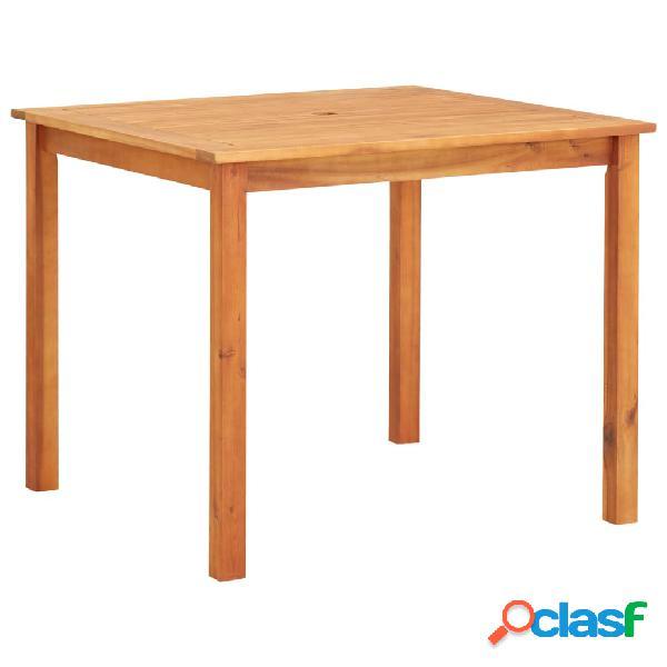 vidaXL Mesa de jardín madera maciza de acacia 90x90x74 cm