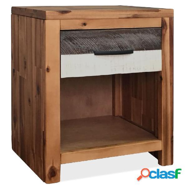 vidaXL Mesita de noche de madera maciza de acacia 40x30x48