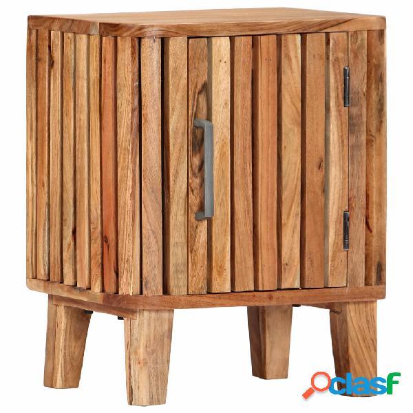 vidaXL Mesita de noche de madera maciza de acacia 40x30x50