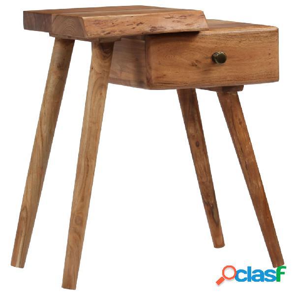 vidaXL Mesita de noche de madera maciza de acacia 45x32x55