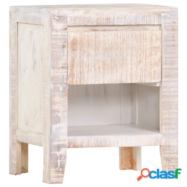 vidaXL Mesita de noche de madera maciza de acacia blanca