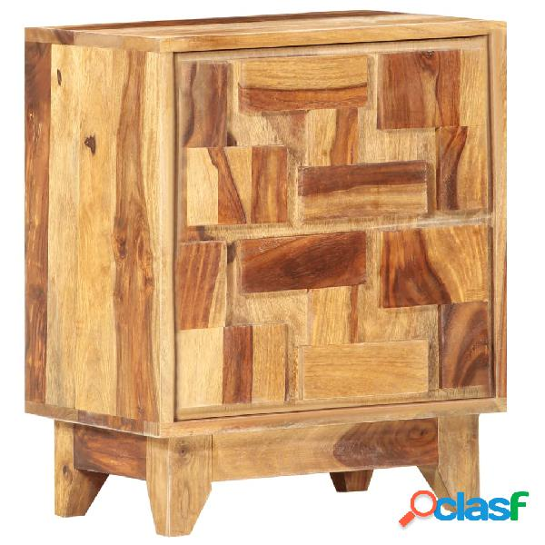 vidaXL Mesita de noche de madera maciza de sheesham 40x30x50