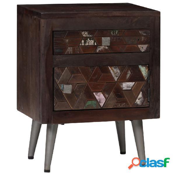 vidaXL Mesita de noche de madera maciza reciclada 40x30x50