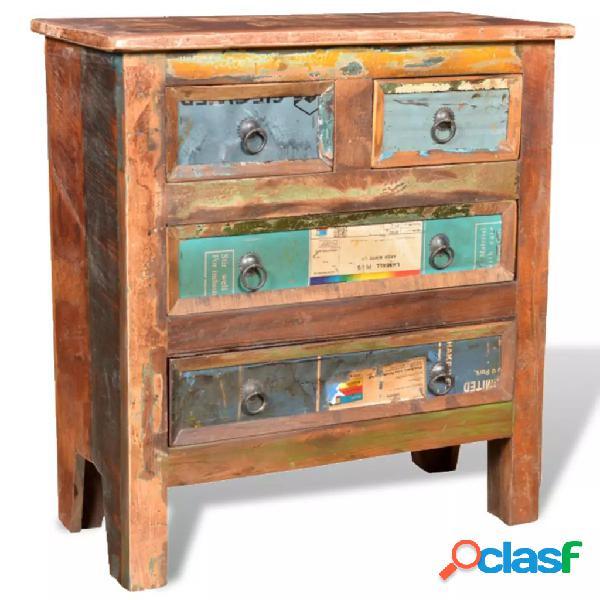 vidaXL Mueble aparador de madera maciza reciclada con 4