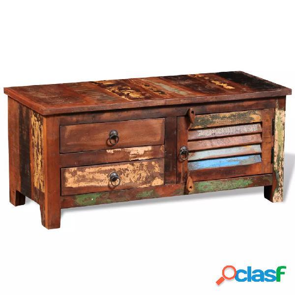 vidaXL Mueble aparador para la TV y Hi-Fi madera maciza