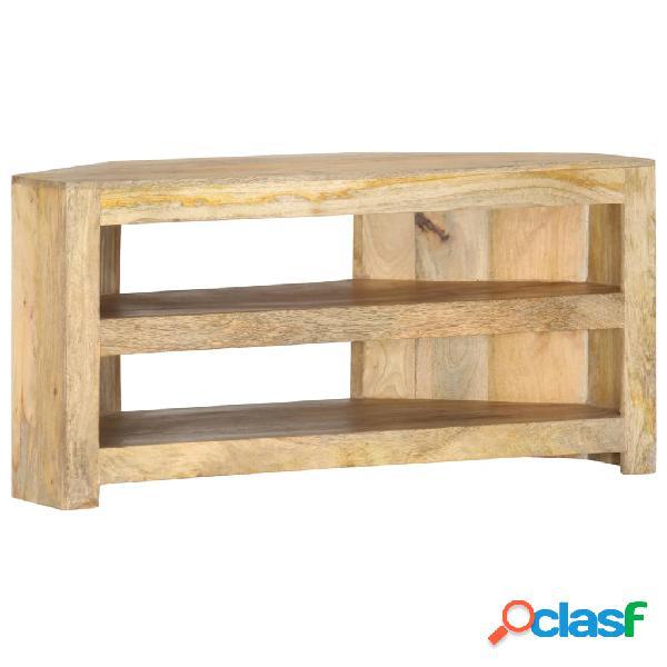 vidaXL Mueble esquinero para TV de madera maciza de mango