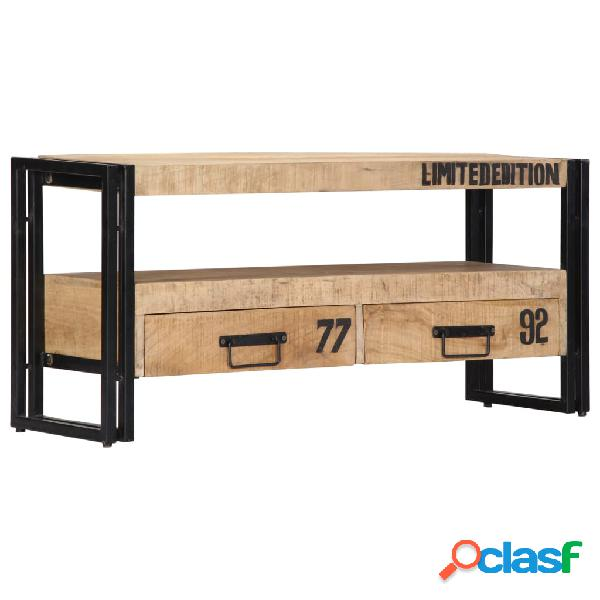 vidaXL Mueble para TV 100x30x45 cm madera maciza de mango