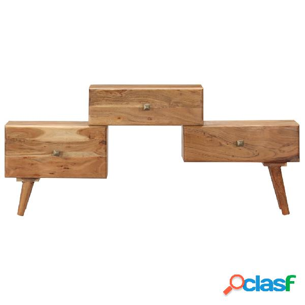 vidaXL Mueble para TV 108x30x49 cm madera maciza de acacia