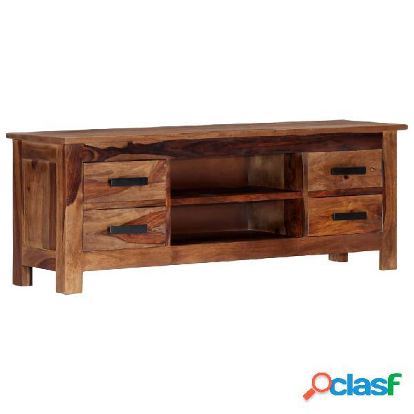vidaXL Mueble para TV 110x30x40 cm madera maciza de sheesham