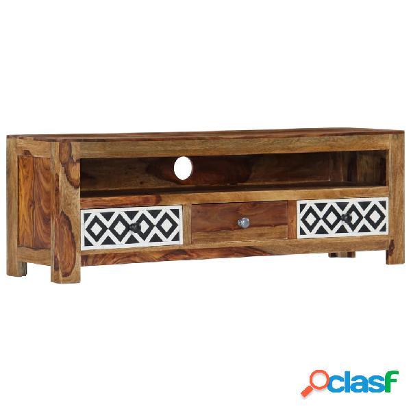 vidaXL Mueble para TV 120x30x40 cm madera maciza de sheesham