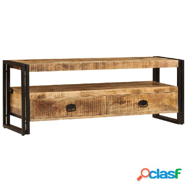 vidaXL Mueble para TV 120x30x45 cm madera maciza de mango