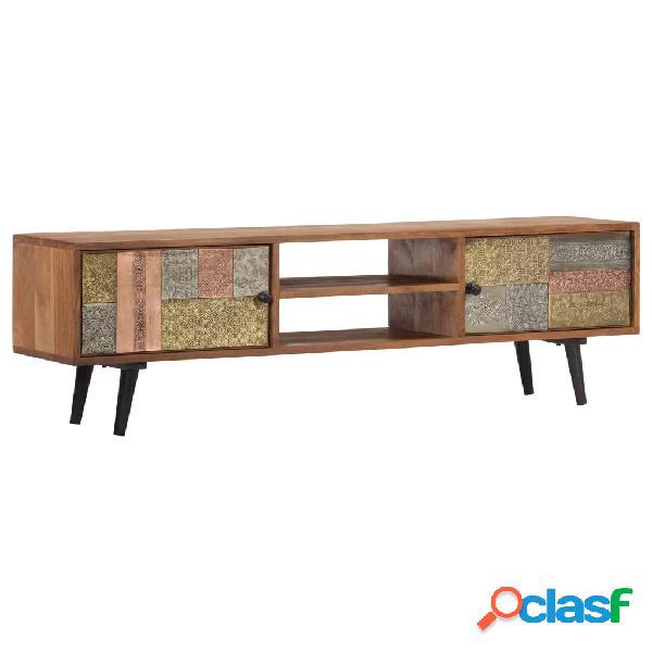 vidaXL Mueble para TV 140x30x40 cm madera maciza de acacia