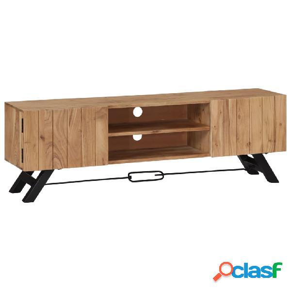 vidaXL Mueble para TV 140x30x45 cm madera maciza de acacia