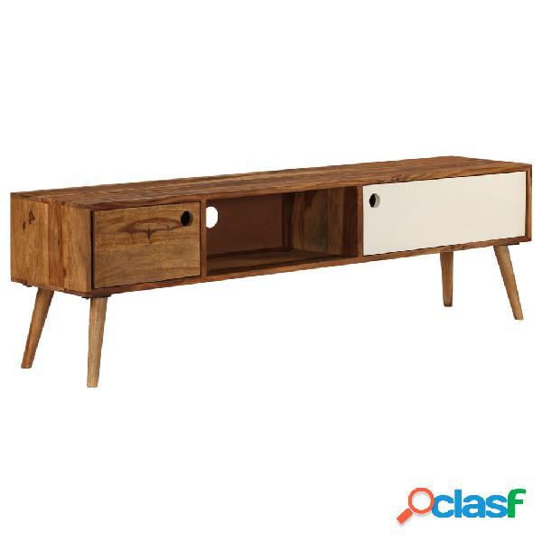 vidaXL Mueble para TV 140x50x35 cm madera maciza de sheesham