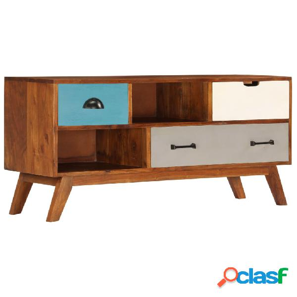 vidaXL Mueble para TV con 3 cajones 110x35x50 cm madera