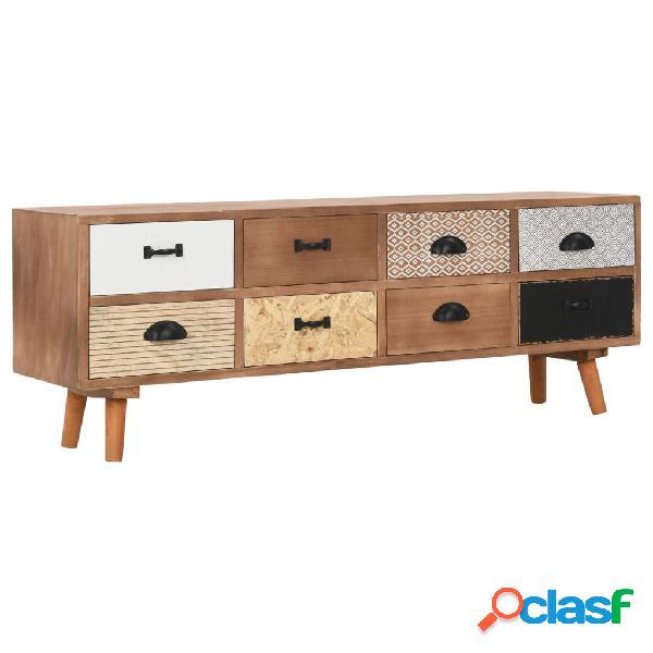 vidaXL Mueble para TV con 8 cajones madera maciza de pino