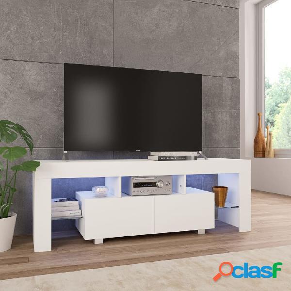 vidaXL Mueble para TV con luces LED blanco brillante