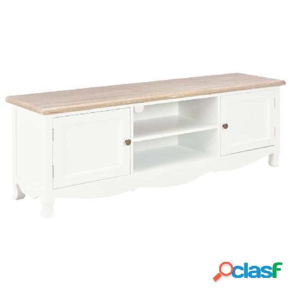 vidaXL Mueble para TV de madera blanco 120x30x40 cm
