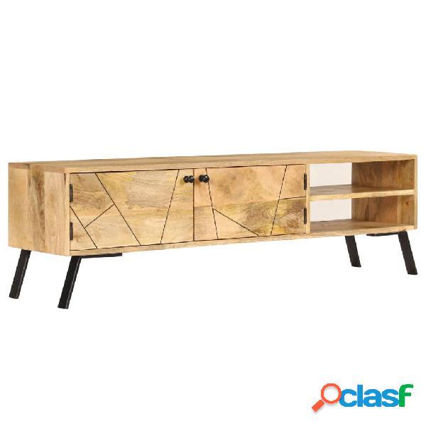 vidaXL Mueble para TV de madera de mango maciza 140x30x40 cm