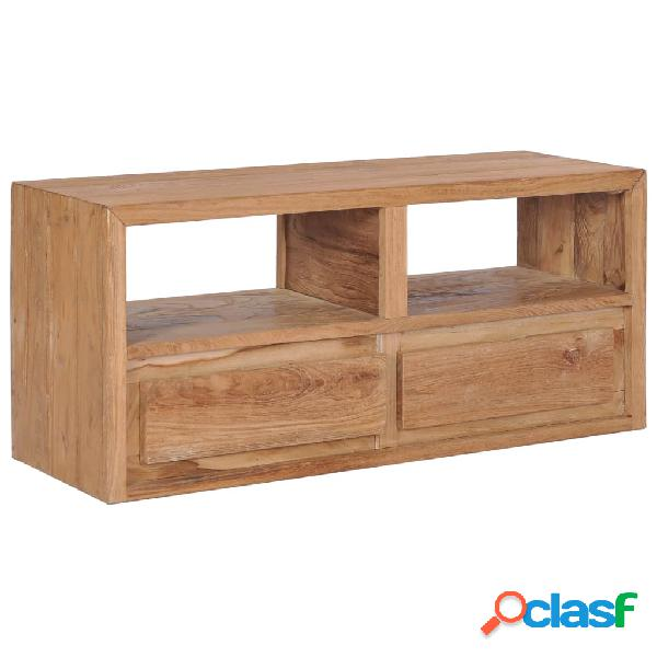 vidaXL Mueble para TV de madera de teca maciza 90x30x40 cm