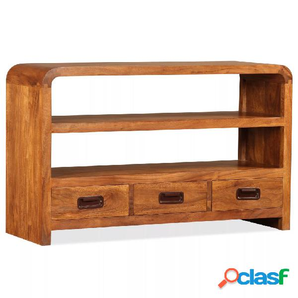 vidaXL Mueble para TV de madera maciza con acabado Sheesham