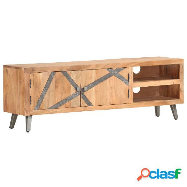vidaXL Mueble para TV de madera maciza de acacia 120x30x40