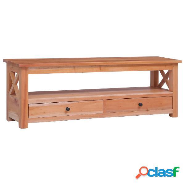 vidaXL Mueble para TV de madera maciza de caoba 120x30x40 cm