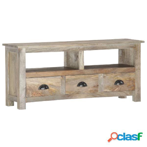 vidaXL Mueble para TV de madera maciza de mango 110x30x50 cm