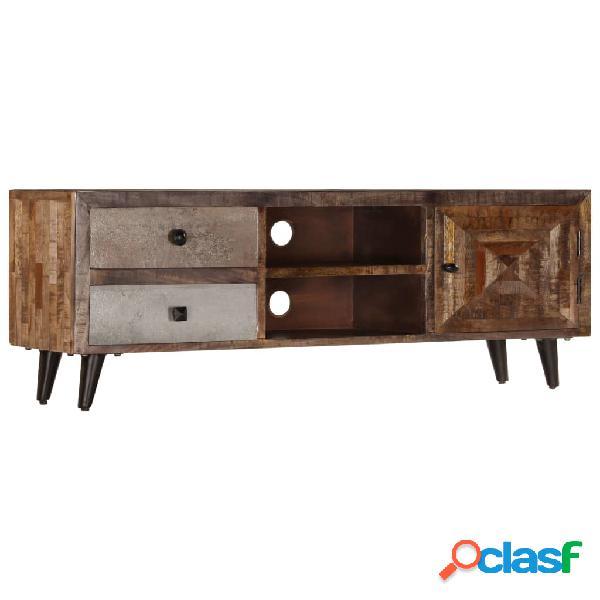 vidaXL Mueble para TV de madera maciza de mango 118x30x40 cm