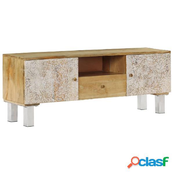 vidaXL Mueble para TV de madera maciza de mango 118x30x45 cm