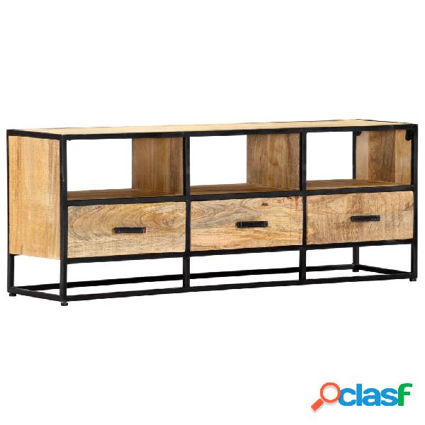 vidaXL Mueble para TV de madera maciza de mango 120x30x45 cm
