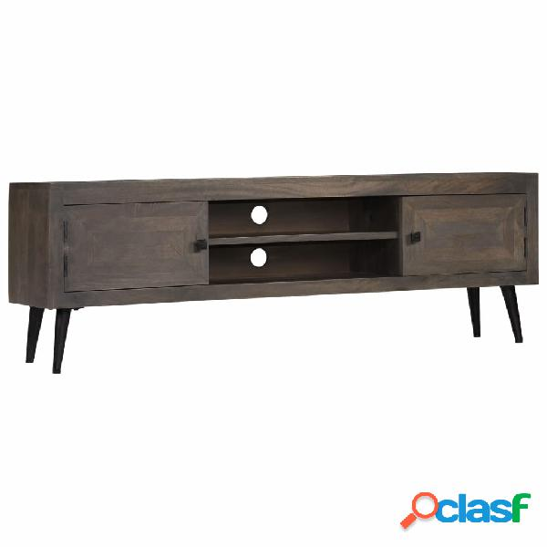 vidaXL Mueble para TV de madera maciza de mango 140x30x45 cm
