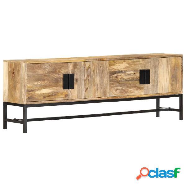 vidaXL Mueble para TV de madera maciza de mango 140x30x50 cm