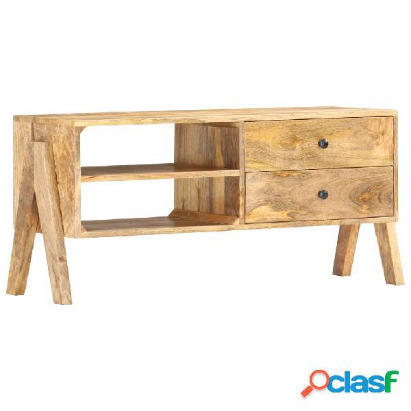 vidaXL Mueble para TV de madera maciza de mango 97x35x47 cm