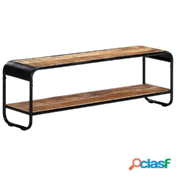 vidaXL Mueble para TV de madera maciza de mango rugosa