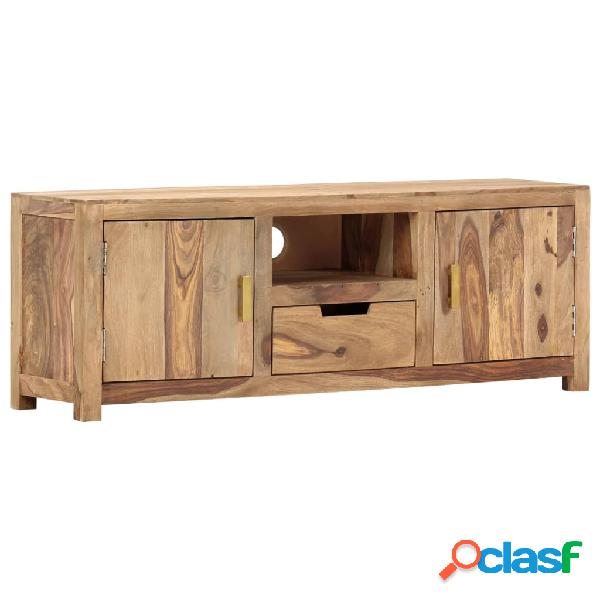 vidaXL Mueble para TV de madera maciza de sheesham 118x29x42