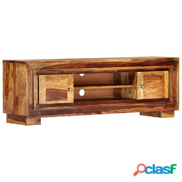 vidaXL Mueble para TV de madera maciza de sheesham 118x30x40