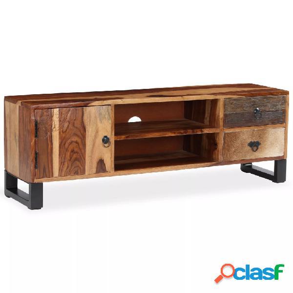 vidaXL Mueble para TV de madera maciza de sheesham 120x30x40