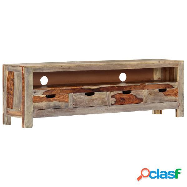 vidaXL Mueble para TV de madera maciza de sheesham 130x30x40