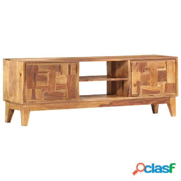 vidaXL Mueble para TV de madera maciza de sheesham 130x30x45