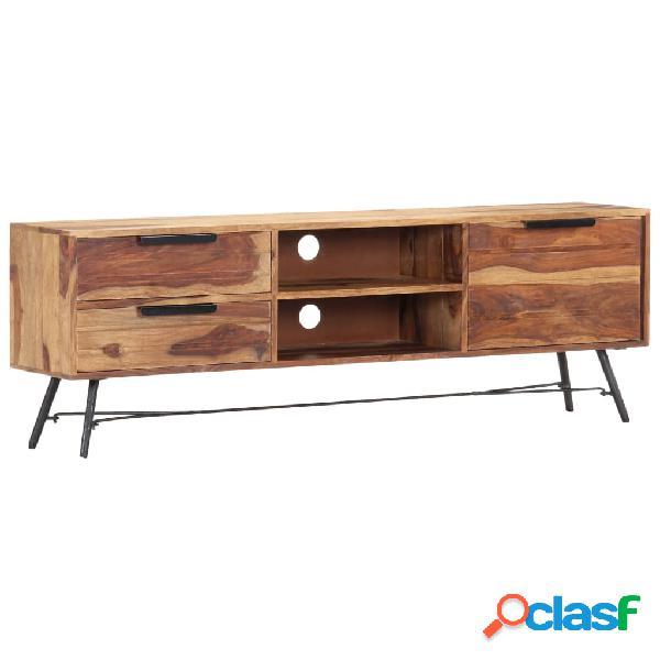 vidaXL Mueble para TV de madera maciza de sheesham 140x28x47