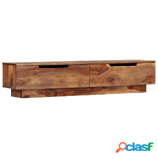 vidaXL Mueble para TV de madera maciza de sheesham 145x30x30