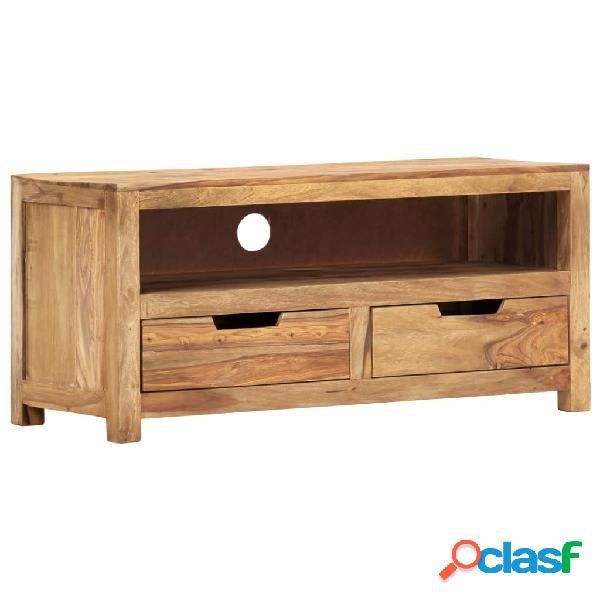 vidaXL Mueble para TV de madera maciza de sheesham 88x35x40