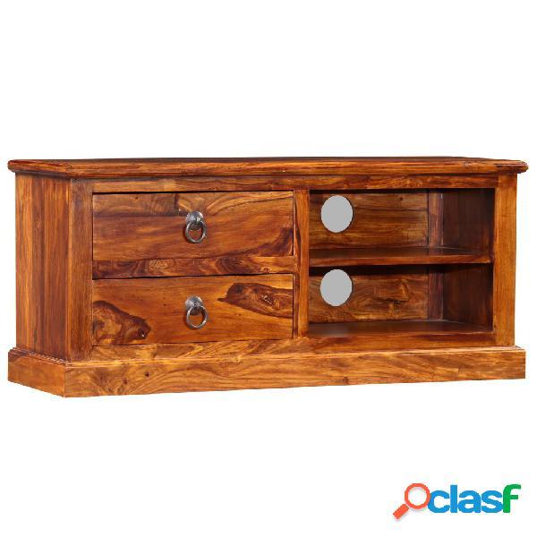 vidaXL Mueble para TV de madera maciza de sheesham 90x30x40