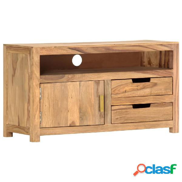 vidaXL Mueble para TV de madera maciza de sheesham 90x35x50